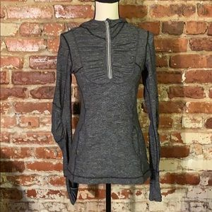 Lululemon Run Resolution 1/4 zip pullover hoodie
